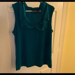 Green sleeveless blouse. The Limited. Size large